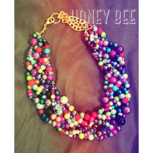 Rainbow bold braided necklace, 175K