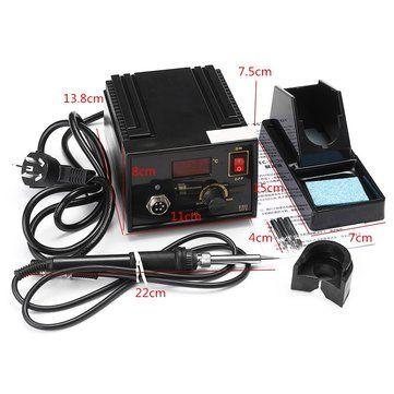 110V 220V 967 Electric Rework Soldering Station Iron LCD Display Desoldering SMD Tool Sale - Banggood.com