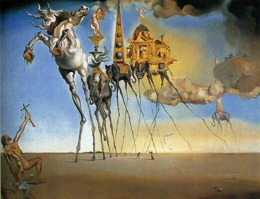 Salvador Dali->Ispitirea Sfantului Anton