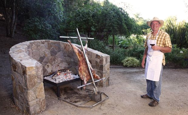 Hand-crafted Asado spits for Patagonian-style BBQ. Yum!