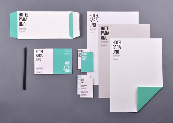 hotel para uno design stationary branding identity