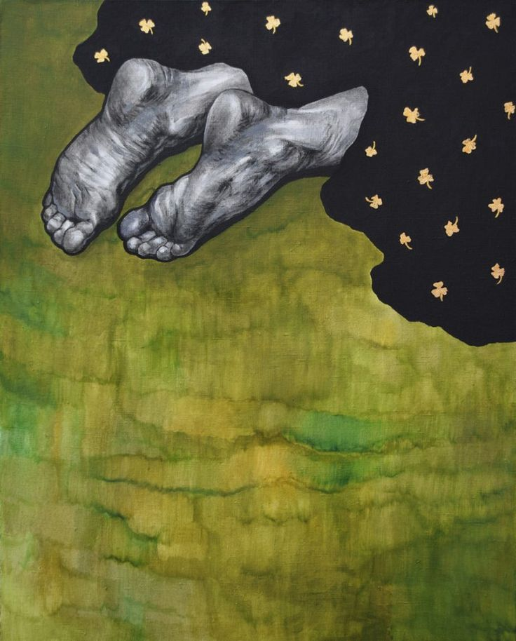 Людмила Баронина, Evergreen life, 2015. Холст, акрил, поталь. 80×100 см. #art #contemporaryart #russianart