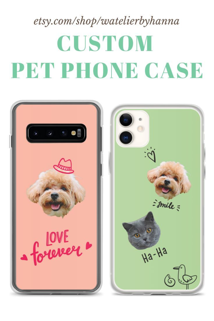 Personalized Iphone Case Cat Lover Gift Iphone Case Dog Lover Gift Custom Pet Phone Case Unique Birthday Gifts For Cat Mom Cat Dad In 2020 With Images Cat