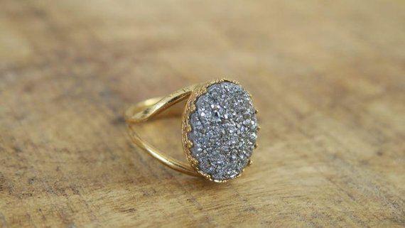 Beautiful Jewelry Womens Jewelry Gold Stone Ring Handmade Etsy Big Stone Ring Womens Jewelry Rings Womens Jewelry Necklace