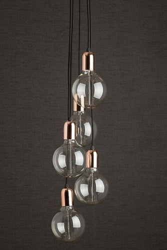 funky bedroom lighting. simple lighting copper cluster pendant light with retro bulbs in copper holders a modern  light a  funky lightinghallway lightingbedroom  and bedroom lighting u