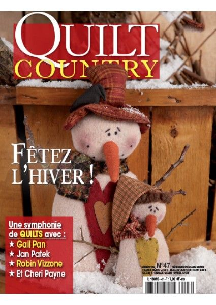 My quilt Winter Garden is in this issue. Quilt Country 47 - Fêtez l'hiver !