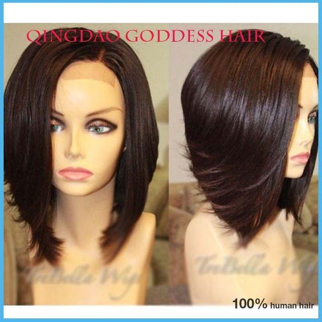Cheap Rosa Hair Products Peruvian Virgin Hair BoB Wigs Full Lace wigs/ lace front short Human hair wigs free shipping