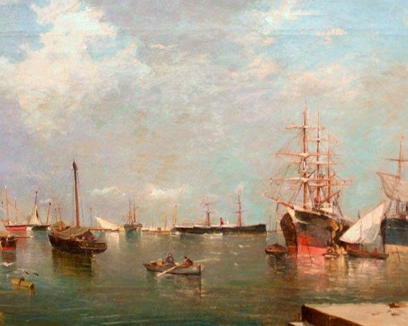 Grandes obras de Joaquín Sorolla - Marina (1881)  Esta pintura la realizó a principios de su carrera, en 1880, cuando aún no había acabado su formación. Sus influencias entonces eran sus maestros más cercanos, pintores valencianos como Rafael Moleón. Buscaba su estilo, que más tarde acabaría caracterizándose por su expresividad y luminosidad.