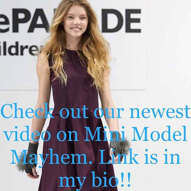 New video out on Mini Model Mayhem! Check it out! Link is in my bio :-) thank you @omegaphotostudios for this runway image at #petiteparade styling @michelonofrio Hmu by @cleliabergonzoli ❤️ walking for @madamandadam #minimodelmayhem #youtubers #tweenyoutuber #MadamAndAdam #runwaymodel with @cassidy_eveler 👯    #Regram via @peytonmurray_official