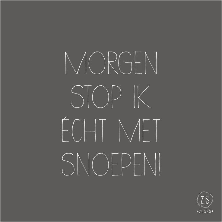 Zusss | Morgen stop ik echt met snoepen! | www.zusss.nl