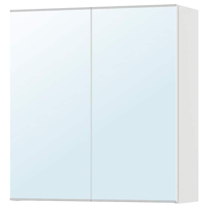 Ikea Lillangen Armoire A Pharmacie 2 Portes Miroir Blanc