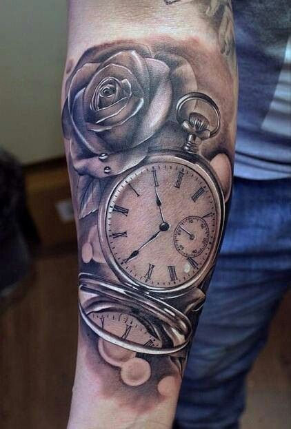 Time piece tattoos | Tattoos are beautiful | Pinterest