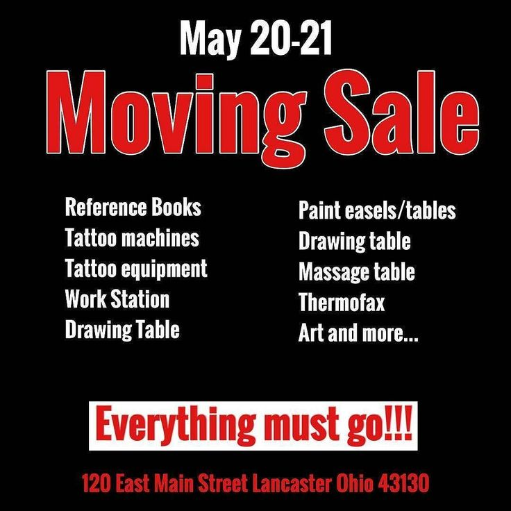 @artofgunnar is having a moving sale in Lancaster Ohio today and tomorrow.  Everything is priced to move! Original art books frames tattoo machines tattoo equipment tables chairs - it's all for sale.  Check out our Instagram story for a glimpse of what's for sale. #artofgunnar #columbus #lancaster #ohio #movingsale #tattoo #tattoos #tattoosnob
