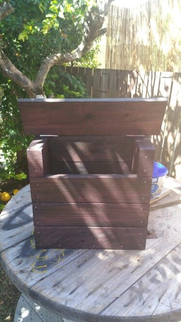 DIY Pallet Letterbox  (After) Stained with Rosewood