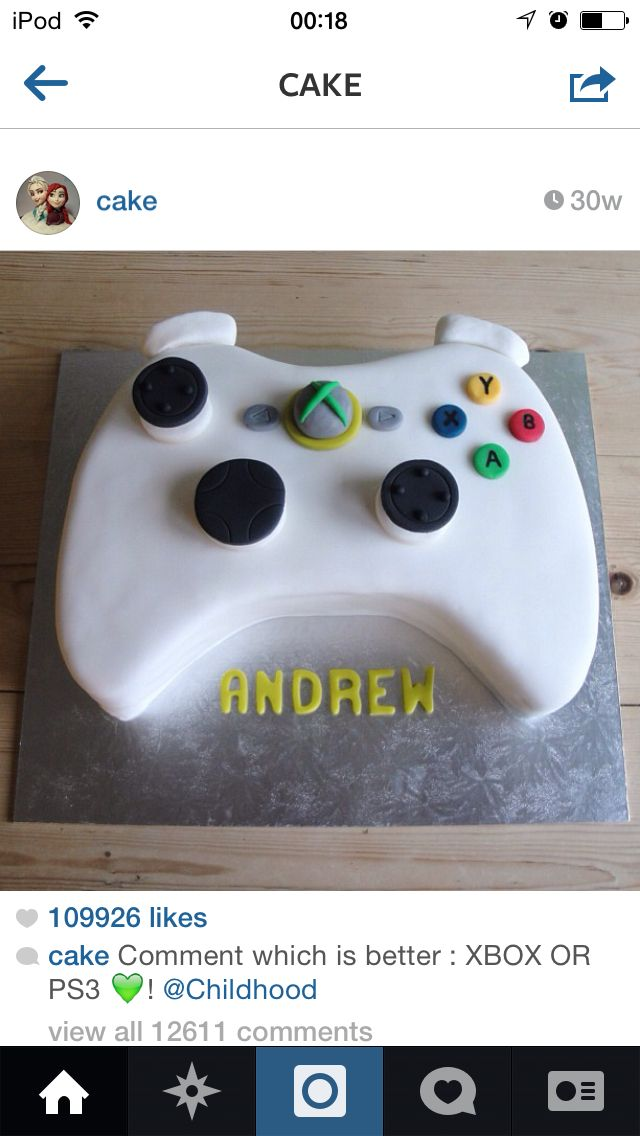 Cor all about their xbox! This would be the correct cake for them;)