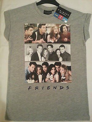 Friends Primark T Shirt Offical Photo License TV Show NEW Sizes 18-20 BNWT Grey £12.99