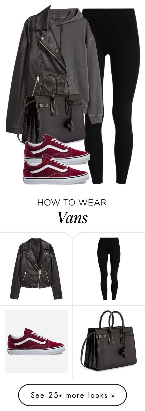 """Sin título #14336"" by vany-alvarado on Polyvore featuring H&M, Yves Saint Laurent and Vans"