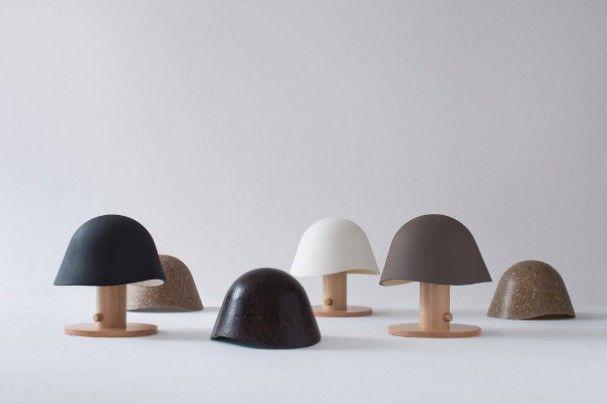 Design houten tafellamp Mush