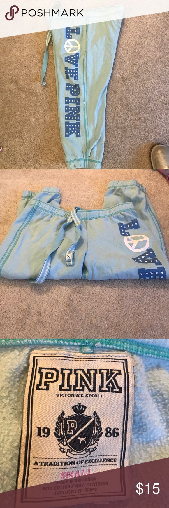 VS PINK CAPRIS Perfect condition perfect to lounge in PINK Victoria's Secret Pants Capris