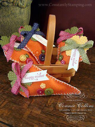 Felt Carrot Easter Bags