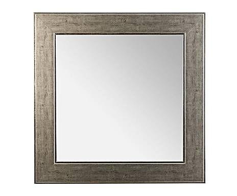 Todo espejos: Espejo de pared en madera de pino, cuadrado – tonos grises
