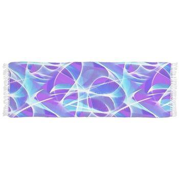 Waves Pattern on Pink Tassel Scarf by Terrella