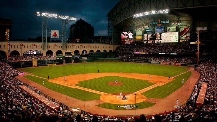 Minute Maid Park Home Of The Houston Astros Ballpark Minute Maid Park Minute Maid Minute Maid Stadium