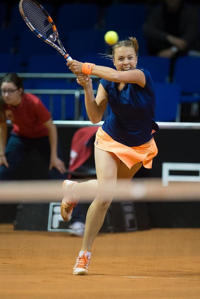 4/26/17 QFs for Annet.. Via Tennis Update INA: WTA #Stuttgart R2: [Q] Annet Kontaveit (EST) def [5] Garbine Muguruza (ESP) 2-6 7-6(1) 6-1.