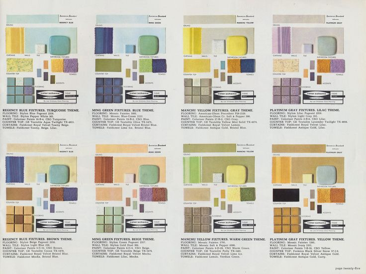 mid century bathroom color schemes more colors