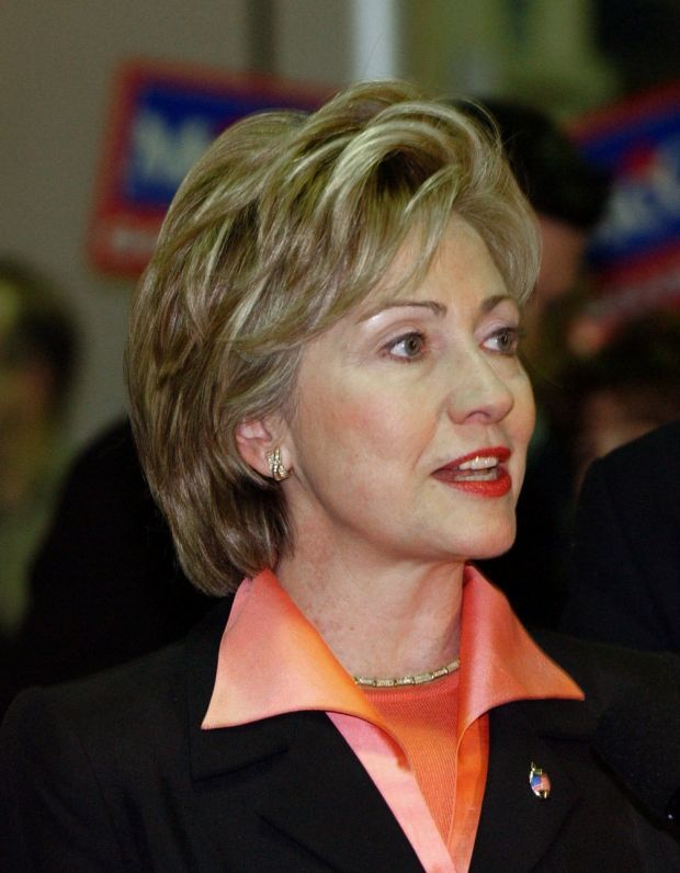 Hillary Clinton's hairstyles through the years 2002