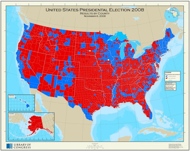 United States Presidential Election 2008 : results by County