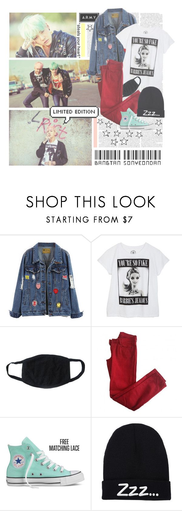 """""""Intro: Nevermind--- BTS"""" by alicejean123 ❤ liked on Polyvore featuring Chicnova Fashion, Comptoir Des Cotonniers and Converse"""