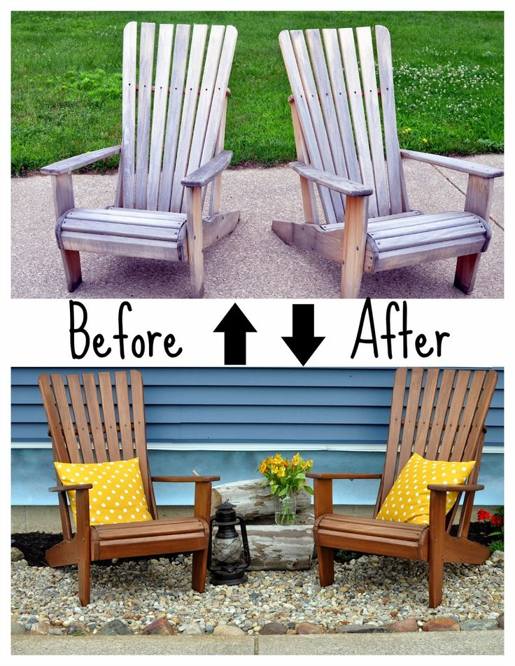 A Nurse And A Nerd: Weather Proofing The Adirondacks (wood Outdoor Chairs)