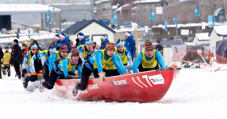 LE CANOT À GLACE – UNE ÉPREUVE D'HIVER PAS COMME LES AUTRES #canot #hiver #sport #sports #entrainement