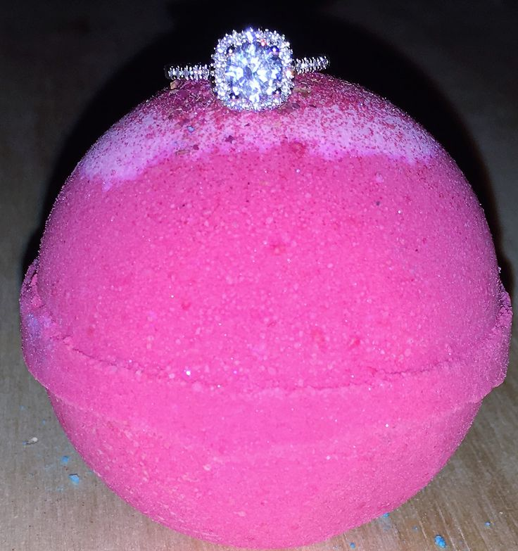 Crazy Love Bath Bomb With Rose Petals And Beautiful Ring Inside  http://www.amorbathbombs.com/
