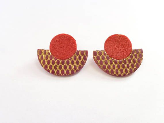 Check out this item in my Etsy shop https://www.etsy.com/listing/546150402/statement-earrings-stud-earrings-womens