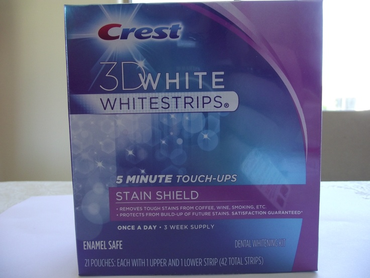 CREST 3D 5 MINUTE TOUCH UPS STAIN SHIELD 3 WEEK SUPPLY!