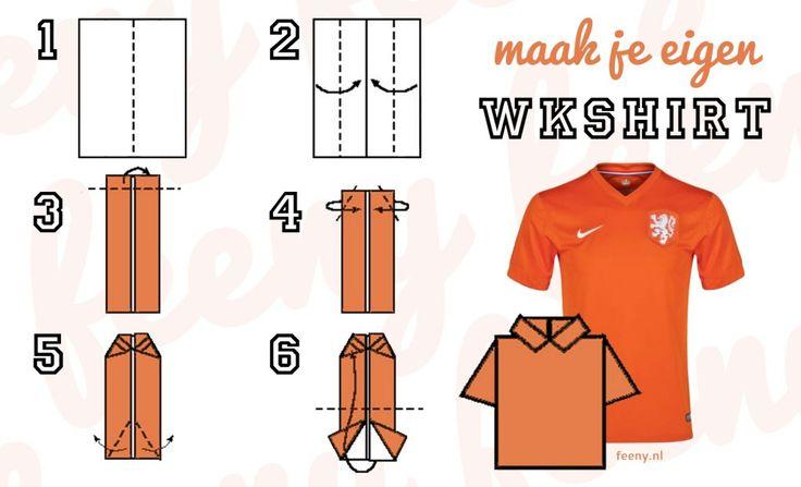 Vouw in 6 stappen het voetbalshirt van het Nederlands elftal!