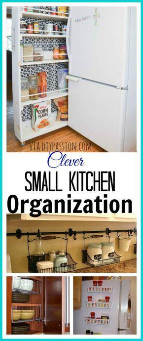 10 Ideas For Organizing a Small Kitchen Diy Pinterest Kitchen