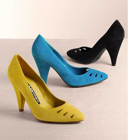 10 fairly comfy heels to run around in! Great for work or sorority recruitment :)
