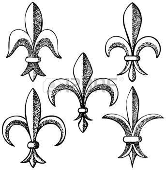 dessin�s � la main fleur de lys ic�nes photo