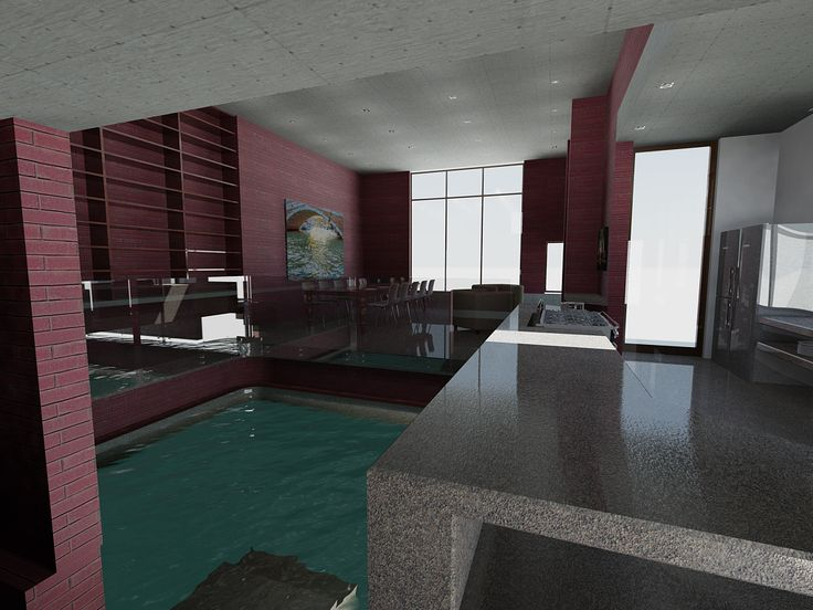 a 2013 Rendering of the indoor side of the pool.
