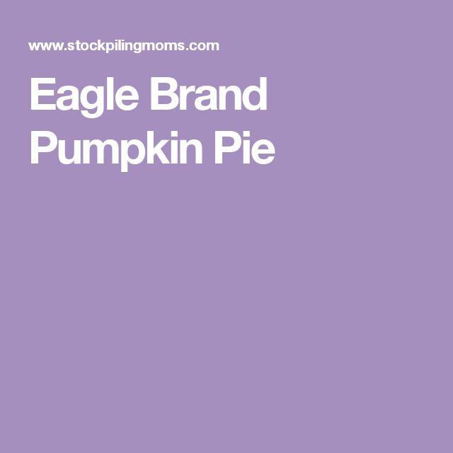 Eagle Brand Pumpkin Pie