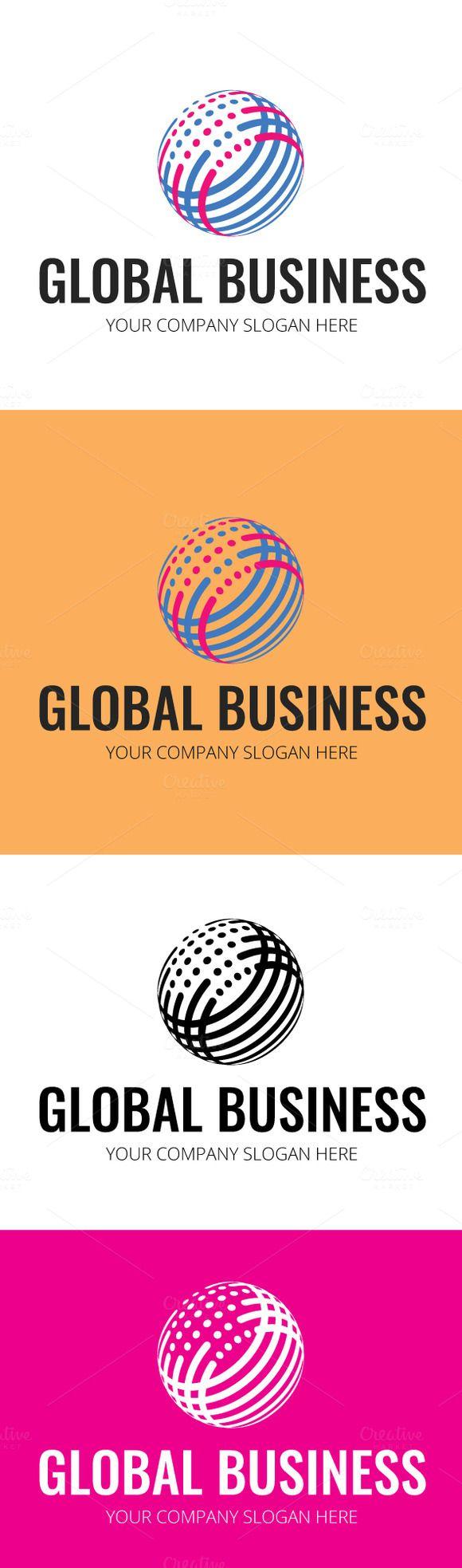 Creative Global Business Logo by DesignMarket on Creative Market