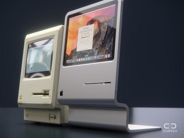 過去と現在の「Mac」デザインを融合した「Macintosh 2015」というコンセプト作品がドイツでお目見えした。昔のMacのコンパクトさと、いまのMacの洗練されたデザインがうまく融合されている。