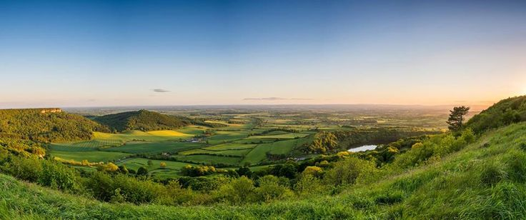 View from Sutton Bank, near to the White Horse.