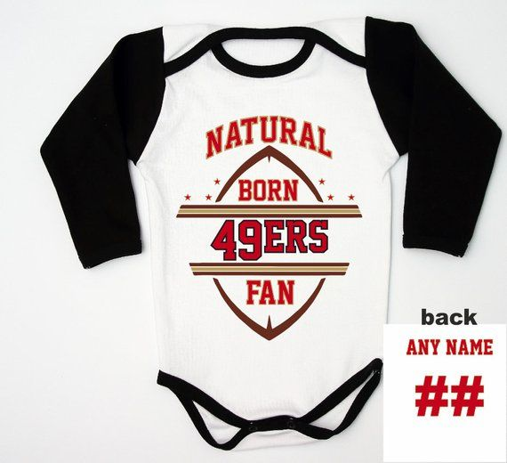 buy popular 2d913 c5534 Football Baby 49ers Jersey / 49ers Baby boy Bodysuit ...