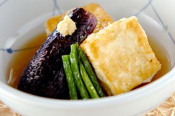 野菜添え揚げ出し豆腐