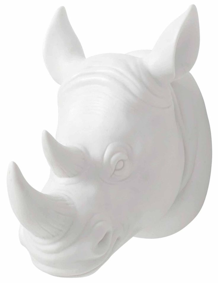 Image of Rhinoceros Head Wall Decor