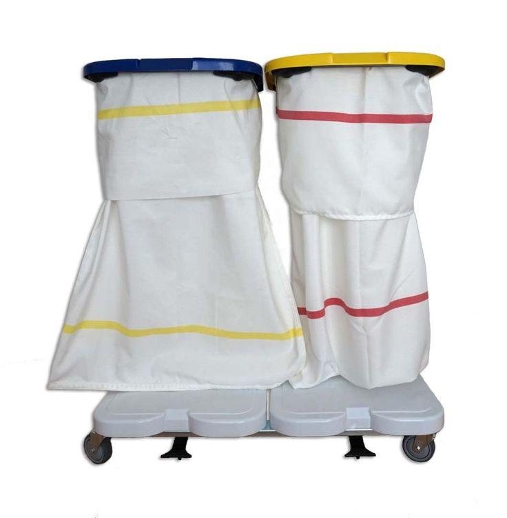 GTARDO.DE:  Wäschewagen 2-fach, mit Deckel und 2 Säcken 287,00 €